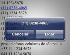 Como deixar o número de telefone clicável para iPhone e iPad